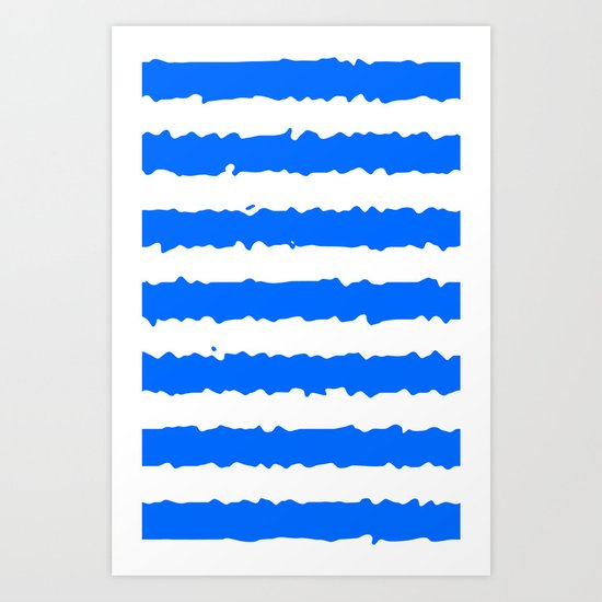 Blue Stripes Art Print