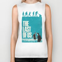last of us Biker Tanks featuring The Last Of Us by Bill Pyle