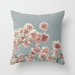 Cherry Almond Branches Throw Pillow