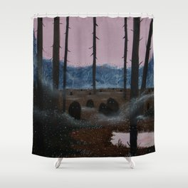 Lurkers Shower Curtain