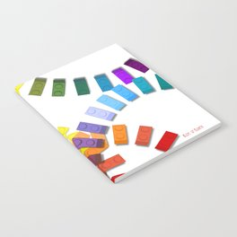Colorful interlocking block pattern Notebook
