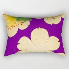 Purple Japanese Floral Vintage Pattern Rectangular Pillow