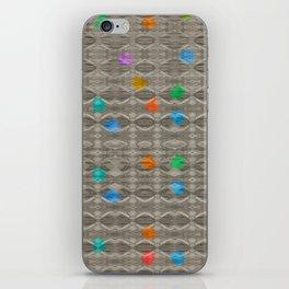 Gemstone Glitch Contrast Pattern iPhone Skin