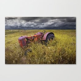 Abandoned Farm Tractor on the Prairie Canvas Print