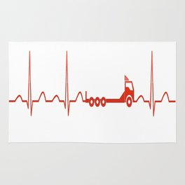 TRUCK HEARTBEAT Rug