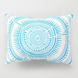 Quaking Aspen – Blue Ombré Tree Rings Pillow Sham