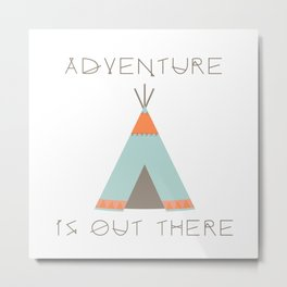 Adventure Is Out There (Blue) Metal Print
