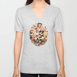Glitch Pin-Up Redux: Whitney Unisex V-Neck