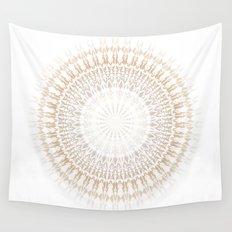 Beige White Mandala Wall Tapestry