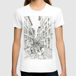 Via S. Lorenzo, Genova T-shirt