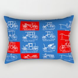 MODERN FASHIONABLE CARRIAGES AND VEHICLES IN GENERAL USE. I Rectangular Pillow