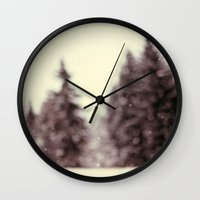 wonderland Wall Clocks featuring Wonderland by Alicia Bock