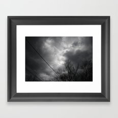 Storms Approaching Framed Art Print