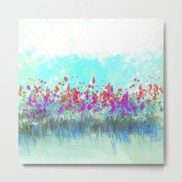 Wading Wildflowers Metal Print