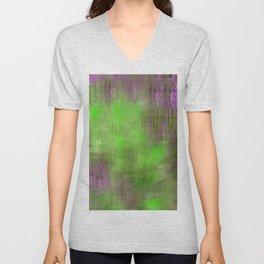 Green Color Fog Unisex V-Neck