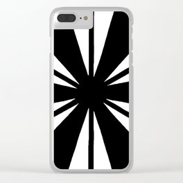 Black and White Bam Clear iPhone Case
