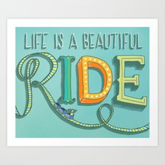 Beautiful Ride Art Print