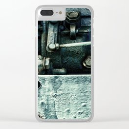 Engine Block Inner Workings Clear iPhone Case