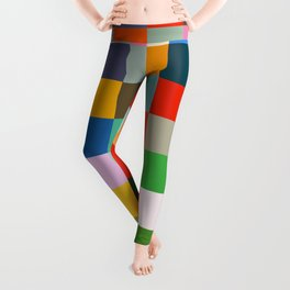 Haumea - Abstract Colorful Pixel Patchwork Art Leggings