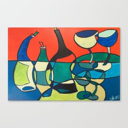 Abstract Wine Canvas Print