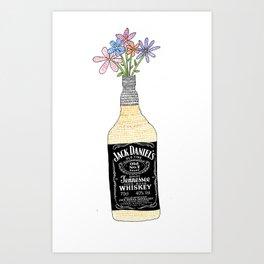 Drinking is pretty Art Print