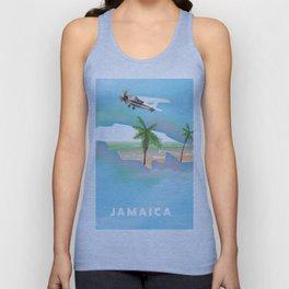 Jamaica Travel Poster. Unisex Tank Top