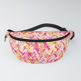 Waves in pink and orange shades, fresh summer color design Fanny Pack