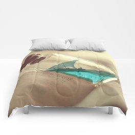 Boat in a bottle Comforters