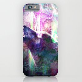 Psychedelic Trippy Wolf iPhone Case