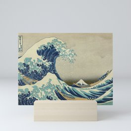 The Classic Japanese Great Wave off Kanagawa Print by Hokusai Mini Art Print