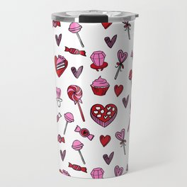 Valentines candy hearts chocolates love gifts for sweetheart Travel Mug