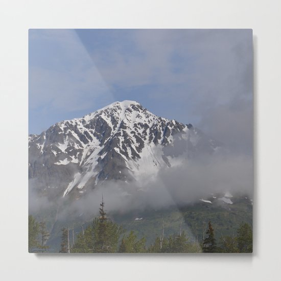 Seward Mountain Fog Metal Print