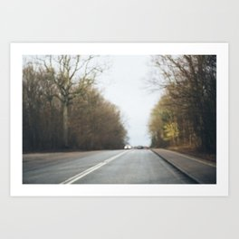 On the road to somewhere... Art Print