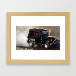 Jeep Burnouts Framed Art Print