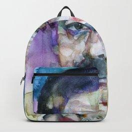 ERNEST HEMINGWAY - watercolor portrait.6 Backpack