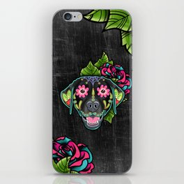 Labrador Retriever - Black Lab - Day of the Dead Sugar Skull Dog iPhone Skin