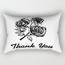 Thank You Roses Rectangular Pillow