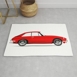 Sports Car Coupe Rug