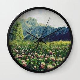 Spring Mountains Wall Clock