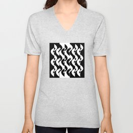 OpArt Waves Unisex V-Neck
