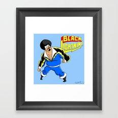 Black Lightning (Sinbad Version)  Framed Art Print