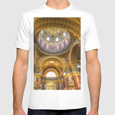St Stephen's Cathedral Budapest White MEDIUM Mens Fitted Tee