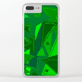 Cages at the Border Green #Abstract #Geometric #PoliticalArt Clear iPhone Case