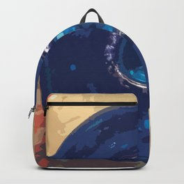 Blue Glass Bottle Backpack