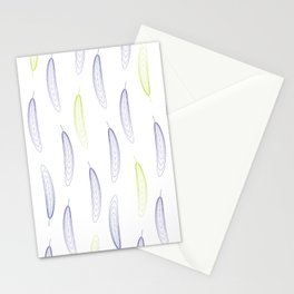 Large Feathers - Purple & Green #993 Stationery Cards