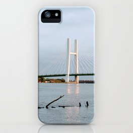 Mississippi River at Burlington, Iowa iPhone Case