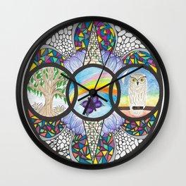 Family Within Wall Clock
