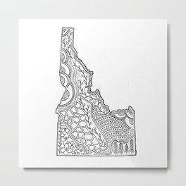 Idaho State Map Illustration Metal Print