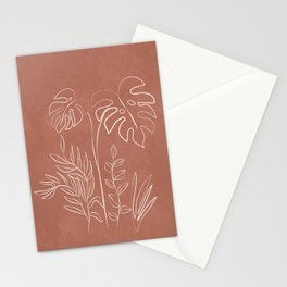 Tropical Outline 12 Stationery Cards