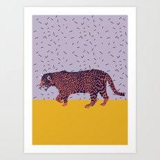 Memphis Jaguar Art Print